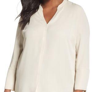 Nic + Zoe Endless Empire Matte Satin blouse